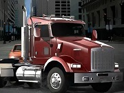 18 Wheeler In Traffic