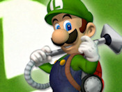 Luigis Mansion spara Mario