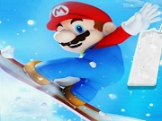Mario Ice Skating Fun
