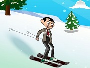 Mr.Bean Skiing Fun