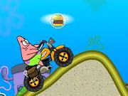 Patrick Star klim Over Mountain