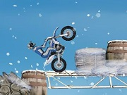 Winter fiets Stunts